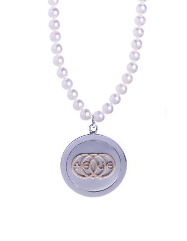 Collana Cerchi Trinitari Rosé e Perle